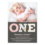 Girly Shabby Chic-erste Geburtstags-Foto-Einladung