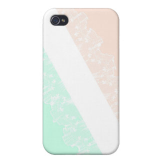 Girly Spitze Mint&Pink iPhone 4 Fall iPhone 4 Hülle