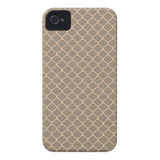 Girly süßes elegantes Muster TANs und des iPhone 4 Case-Mate Hülle