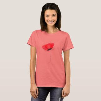 Girly T - Shirt der Designer: mit roter Blume