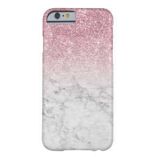 Girly Trendy Imitat-rosa Glitter-Marmor Barely There iPhone 6 Hülle