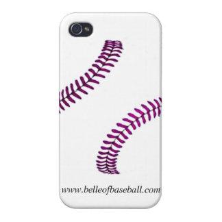 Girly u. lila Baseball nähender iPhone Fall iPhone 4 Schutzhüllen