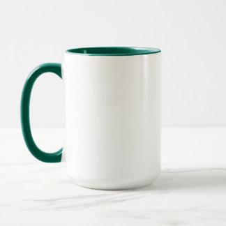 Girly Uni-Studenten-Grün-Wecker-Tasse Tasse