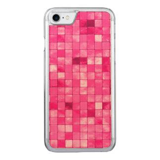 Girly verändertes pinkfarbenes dekoratives carved iPhone 8/7 hülle