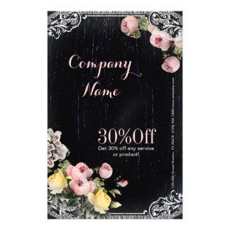 girly Vintage Floristentafel der Mode Flyerbedruckung