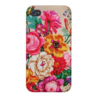 Girly Vintage Frühlings-Blumen iPhone 4 Schutzhülle