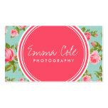 Girly Vintage Rosen-Blumendruck Visitenkartenvorlagen