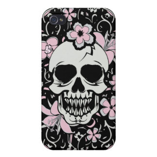 Girly Vintager Schädel iPhone 4 Cover