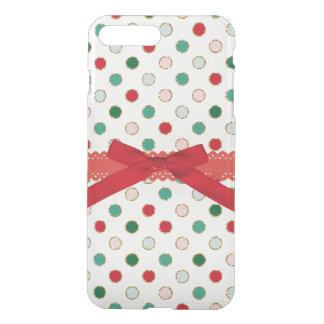 Girly WeihnachtsTupfen-Feiertags-Telefon-Kasten iPhone 8 Plus/7 Plus Hülle