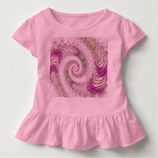 Girly Wirble Fraktal-Kunst Kleinkind T-shirt