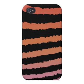 Girly Zebra Pern I iPhone 4 Etuis