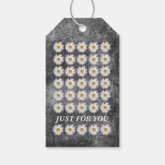 Girly zeitgenössische Blumenfeier Geschenkanhänger
