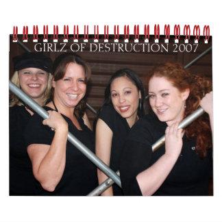 GIRLZ des Kalenders der ZERSTÖRUNG 2007 Kalender