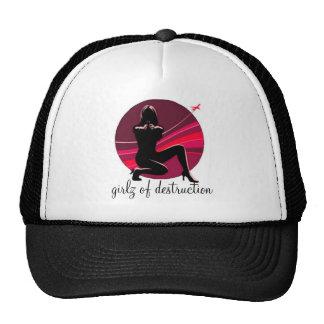 girlz des roten/schwarzen Hutes der Zerstörung Baseballmütze