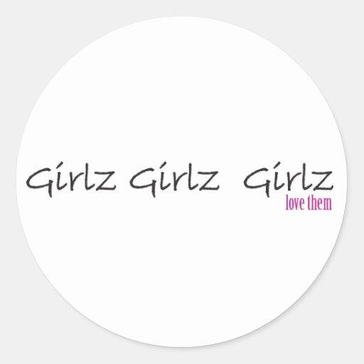Girlz Girlz Girlz Liebe sie Aufkleber