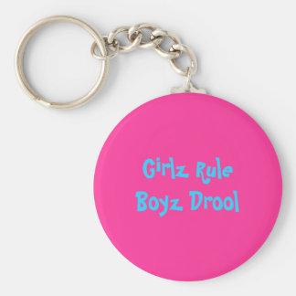 Girlz RuleBoyz Geifer Standard Runder Schlüsselanhänger