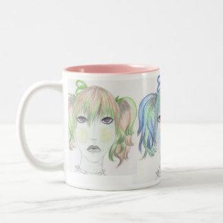 GirlZ Tasse. Zweifarbige Tasse