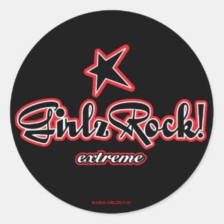 GirlzRock! Extremes Logo Runder Aufkleber