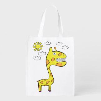 Girraffey die Giraffe - wiederverwendbare Tasche Wiederverwendbare Einkaufstasche