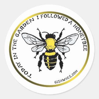 GISHWHES Honigbienen-Aufkleber Runder Aufkleber