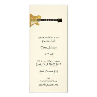 Gitarre 10,2 X 23,5 Cm Einladungskarte