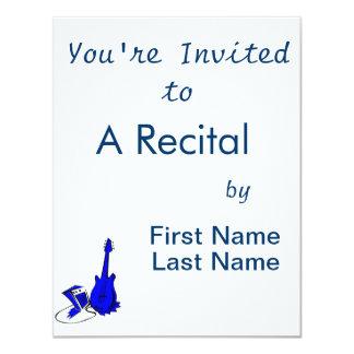 Gitarre Ampere stilisiertes blue.png 10,8 X 14 Cm Einladungskarte