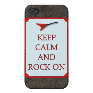 Gitarre behalten ruhigen Felsen auf Speck-Kasten Etui Fürs iPhone 4