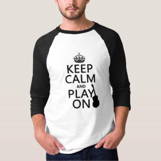 Gitarre - behalten Sie Ruhe und Spiel auf (jede T-Shirt