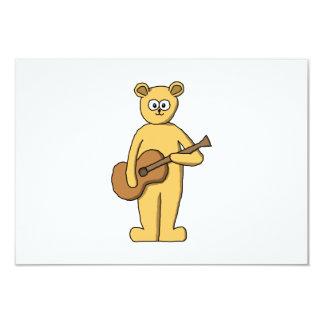 Gitarre, die Bären spielt 8,9 X 12,7 Cm Einladungskarte