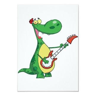 Gitarre, die Dinosaurier-Einladungen spielt 8,9 X 12,7 Cm Einladungskarte