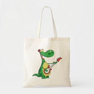 Gitarre, die Dinosaurier-Taschen-Tasche spielt Tragetasche