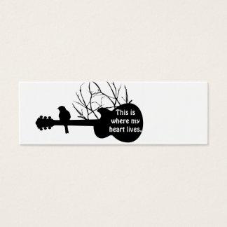 Gitarre, diese ist, wo mein Herz lebt Mini Visitenkarte