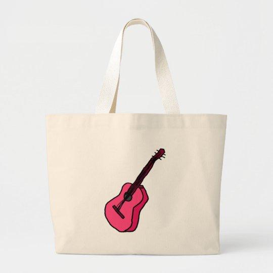 Gitarre in pink jumbo stoffbeutel