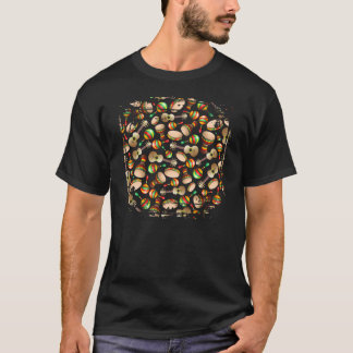 Gitarre Maracas Bongo-Muster-T - Shirt