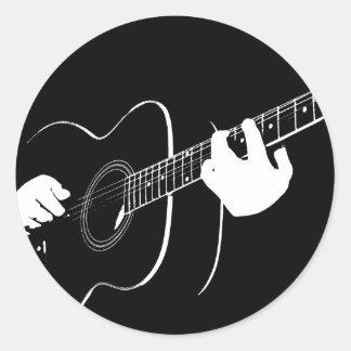 Gitarre Runder Aufkleber