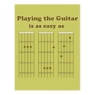 Gitarre so einfach wie ABC Postkarte