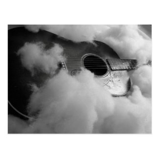 Gitarre träumt Postkarte