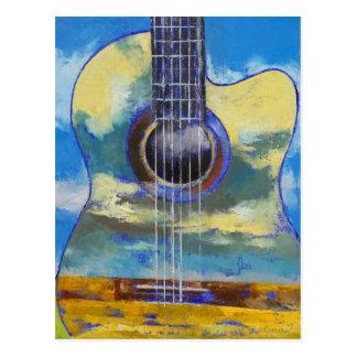 Gitarre und Wolken-Postkarte Postkarte