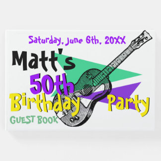 Gitarren-50. Geburtstags-Party-Gast-Buch Gästebuch