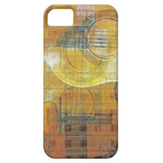 Gitarren-abstraktes orange Blau Hülle Fürs iPhone 5