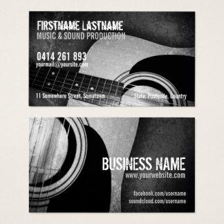 Gitarren-akustische Schmutz-Musikindustriekarte Visitenkarte