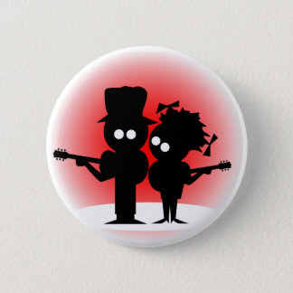 Gitarren-Duo Runder Button 5,1 Cm