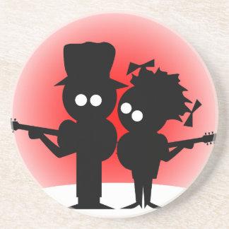 Gitarren-Duo Sandstein Untersetzer