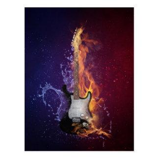 Gitarren-Eis und Feuer Postkarte