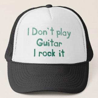 Gitarren-Felsen es Hut Truckerkappe