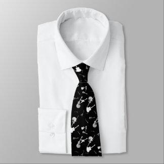 Gitarren-Felsen-Schwarz-weiße Krawatte 1