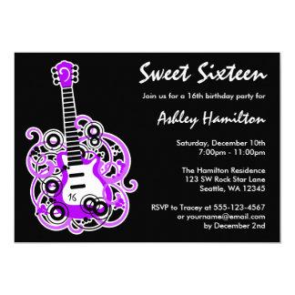 Gitarren-Felsen-Stern-Bonbon 16 Geburtstags-Party Karte