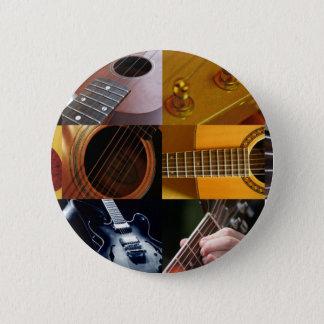 Gitarren-Foto-Collage Runder Button 5,7 Cm