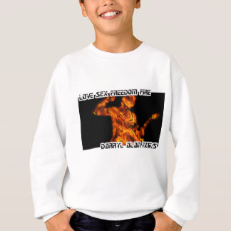 Gitarren-Gitarrist-Mann-Feuer-Silhouette Sweatshirt