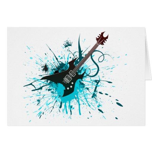 Gitarren graffiti emo rockmusik band alternative grußkarten